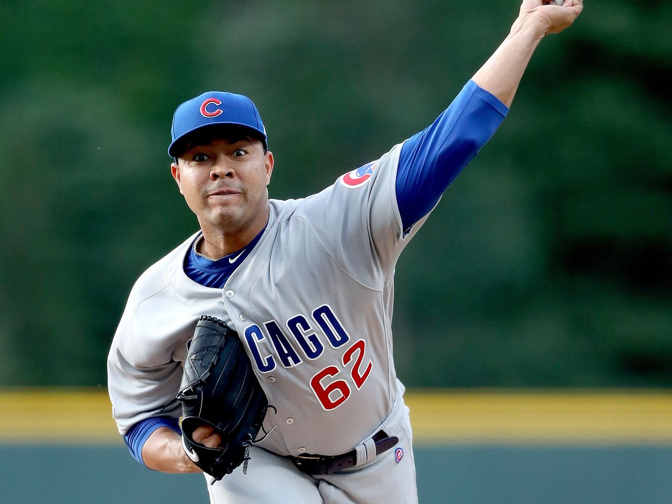 Jose Quintana couldn't pitch out of the fifth inning of the Cubs' 10-1 loss to the Rockies on Tuesday night.