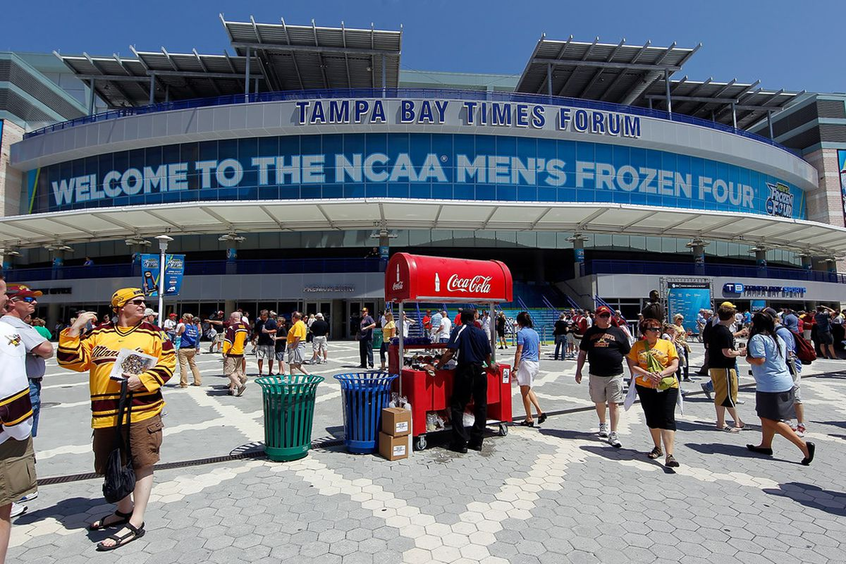 Not in Tampa this year; they moved it to Richard Pilon's statue instead.