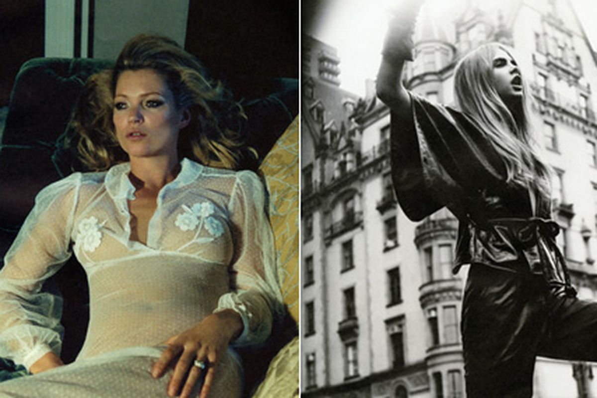 """Kate Moss and Cara Delevingne via <a href=""""http://www.style.com/stylefile/2012/12/opening-to-the-centrefold/"""">Style.com</a>"""