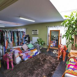 The Gypsy05 home collection includes pillows, blankets and poofs all made from recycled materials.