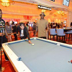 Malik Jackson, Kenny Anunike and DeMarcus Ware at Encore Players Club. Photo: Karl Larson