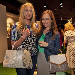 "Blogger Devon Rachel and style expert Sydne Summer with her <a href=""http://la.racked.com/archives/2013/03/07/handbag_line_brahmin_rented_out_bagatelle_for_press_last_night.php""target=_blank"">Brahmin</a> bag."