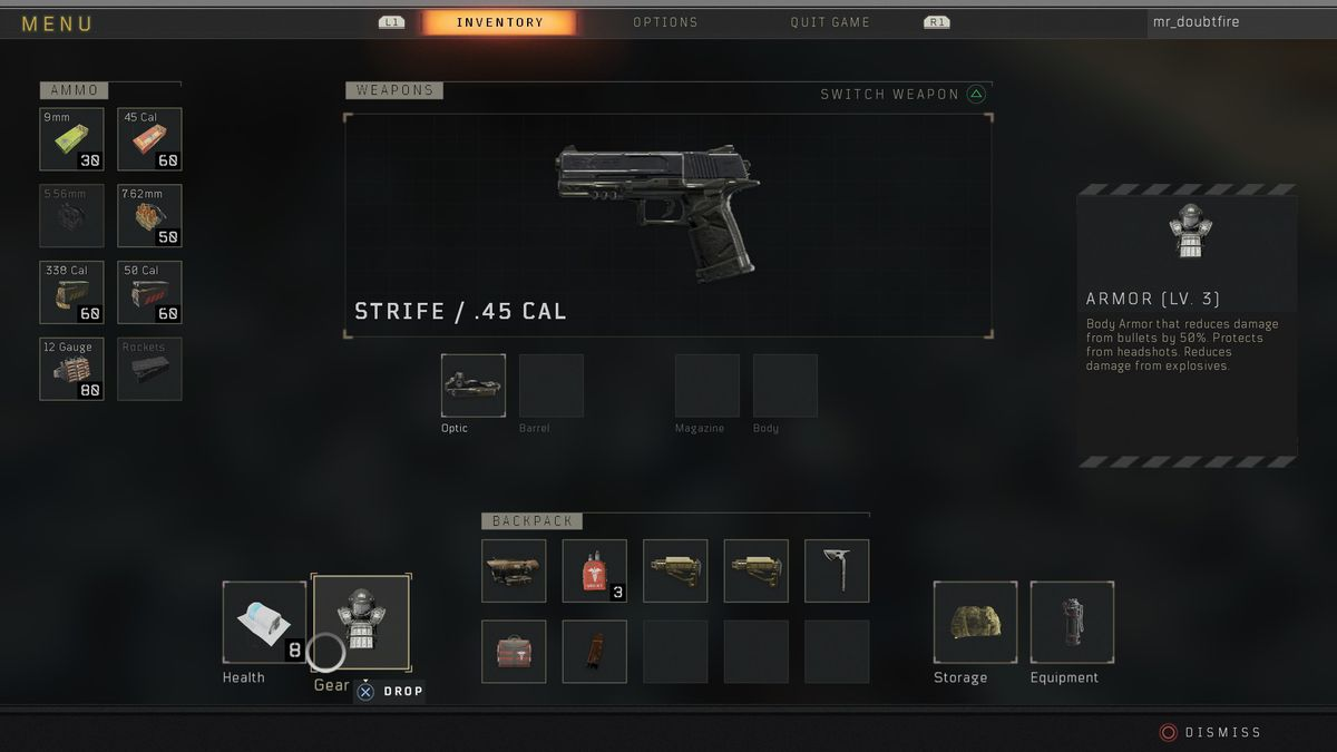 Call of Duty: Black Ops 4 Blackout Strife