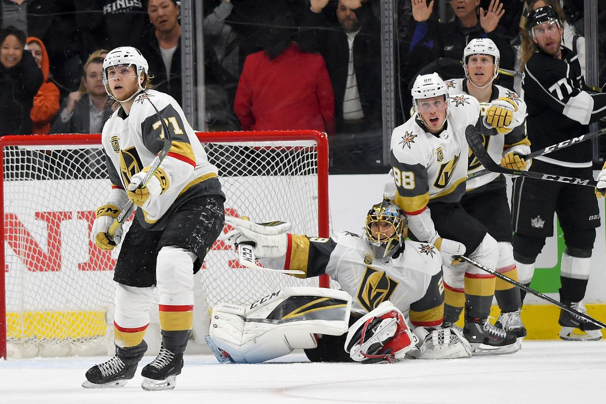 NHL: Stanley Cup Playoffs-Vegas Golden Knights at Los Angeles Kings