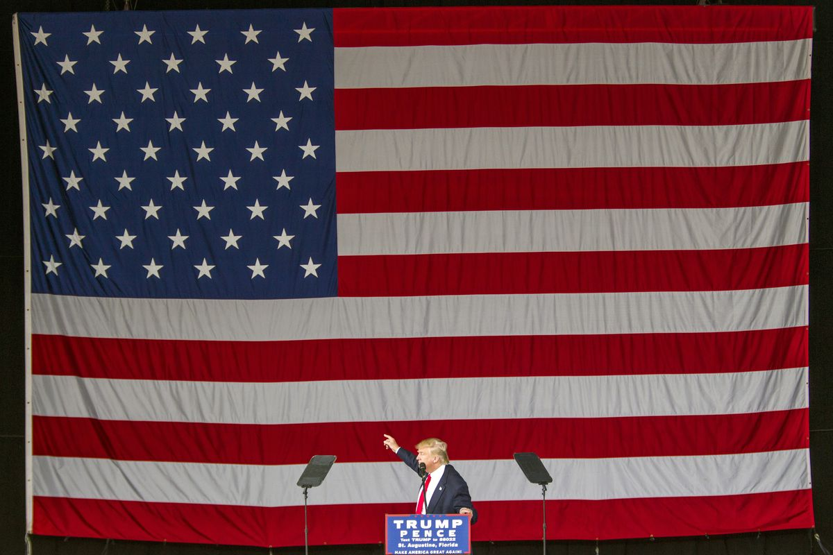 Donald Trump Holds Campaign Rally In St. Augustine, Florida