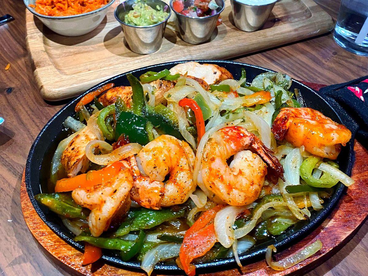 A shrimp dish