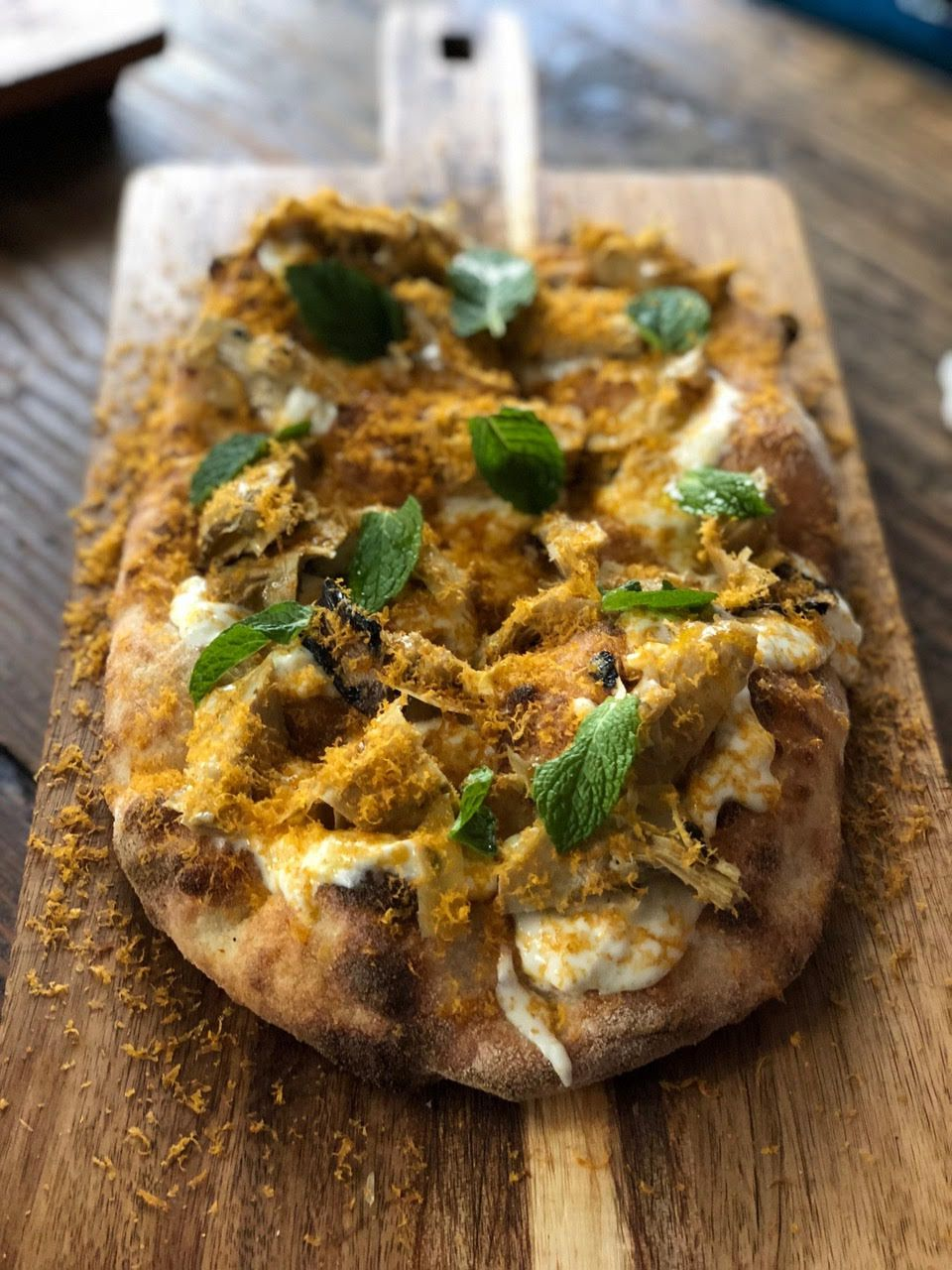 A picture of a flatbread from Montesacro