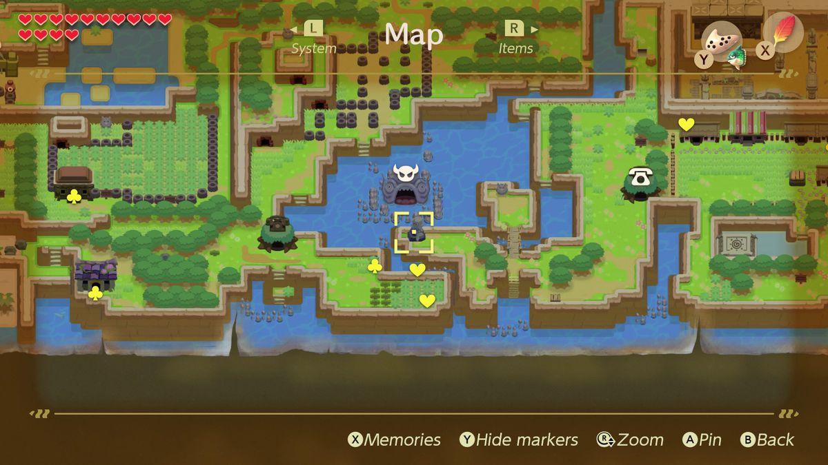 Link's Awakening trading sequence Mermaid Statue location