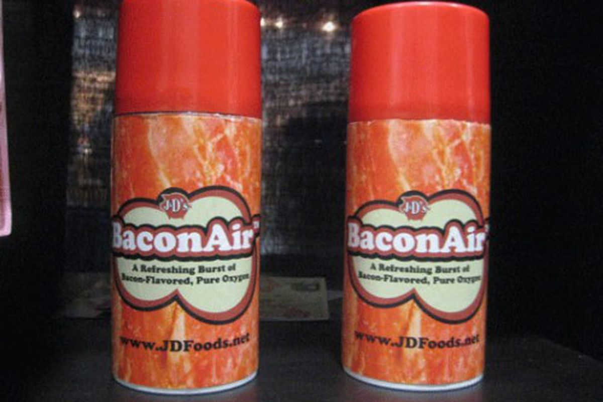 Yes, there is bacon-flavored oxygen.