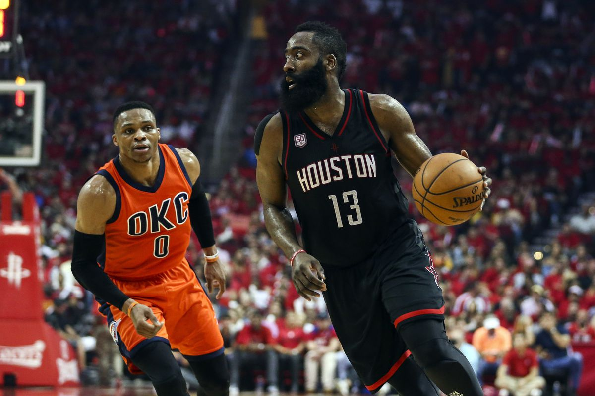 Image result for james harden russell westbrook usa today