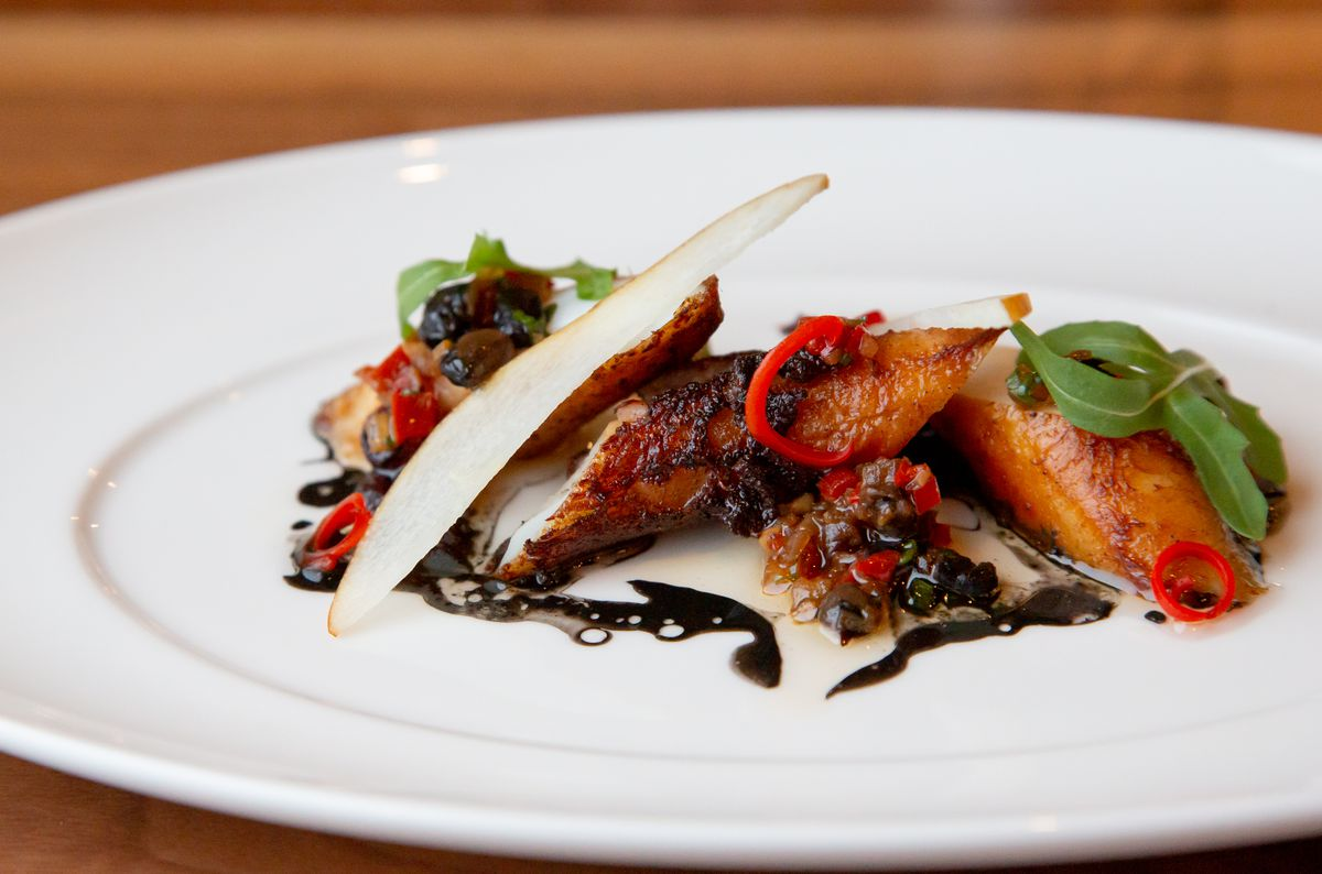 Charred octopus at Lazy Betty