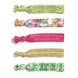 'Nosie Posey' 5-pack ribbon elastics, $5