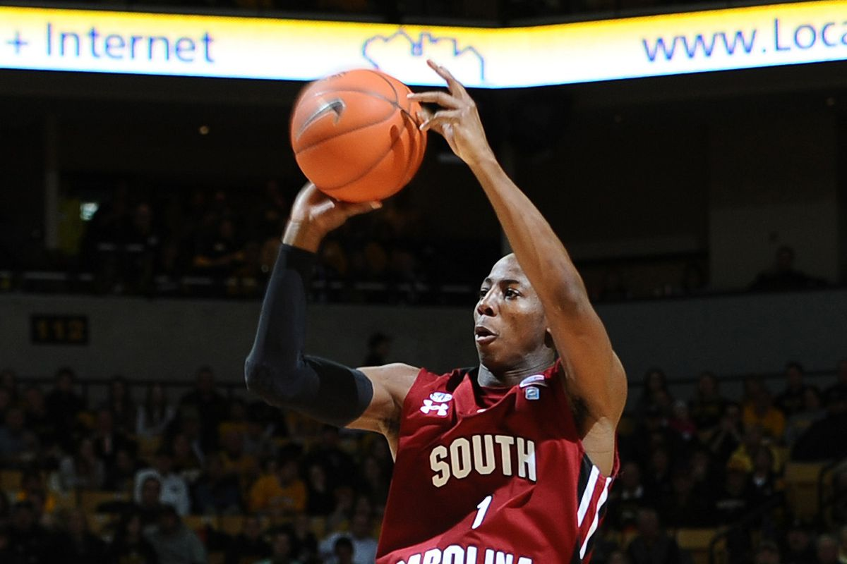 Brenton Williams, one of the few returning players from last year's squad, leads the Gamecocks against a formidable schedule in 2013-14.