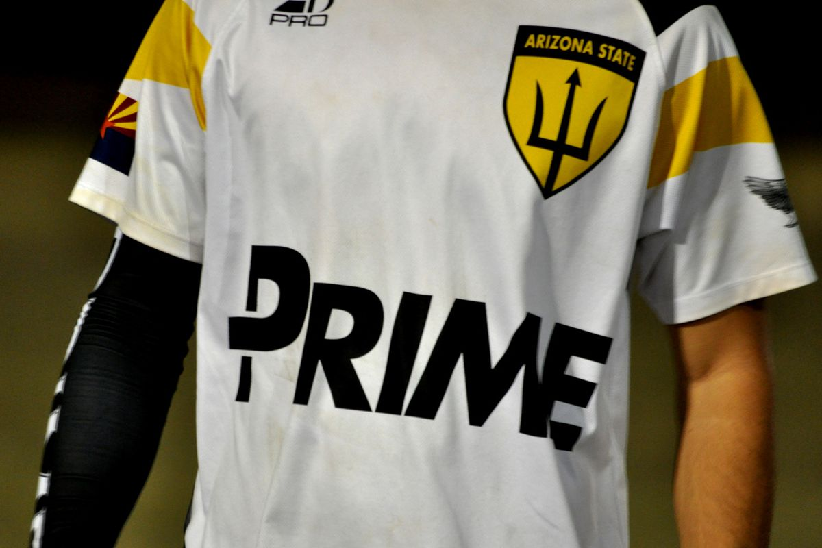 The ASU ultimate team's new jersey, complete with knockoff pitchfork logo.