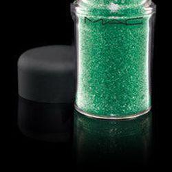 """MAC Glitter in Emerald, <a href=""""http://www.maccosmetics.com/products/spp/shaded.tmpl?CATEGORY_ID=CAT793&PRODUCT_ID=PROD505&SKU_ID=SKU42733"""">$21</a>"""