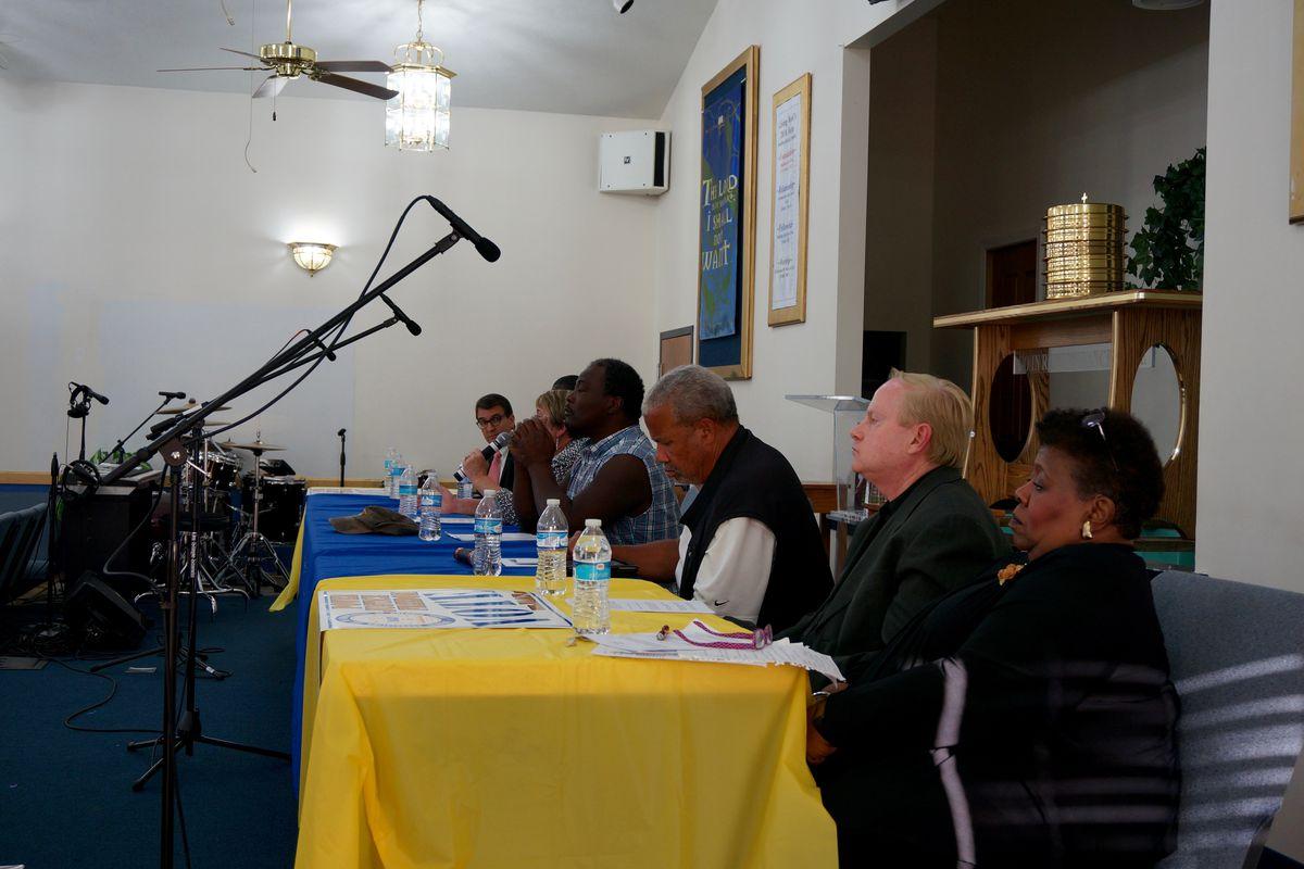 Indianapolis Public Schools board candidates at a forum.