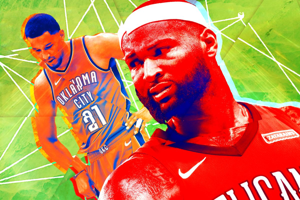 Andre Roberson and DeMarcus Cousins