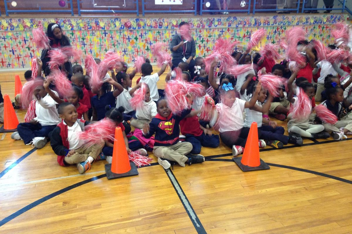 Students at Levi Elementary School won tickets to a Memphis Grizzlies game for posting the largest reading test score gains in the district.