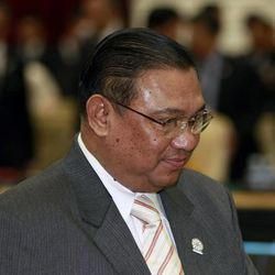 Myanmar Foreign Minister Wunna Maung Lwin arrives at the Association of Southeast Asian Nations, or ASEAN Foreign Ministers Meeting ahead of the ASEAN Summit at Peace Palace in Phnom Penh, Cambodia Monday, April 2, 2012.