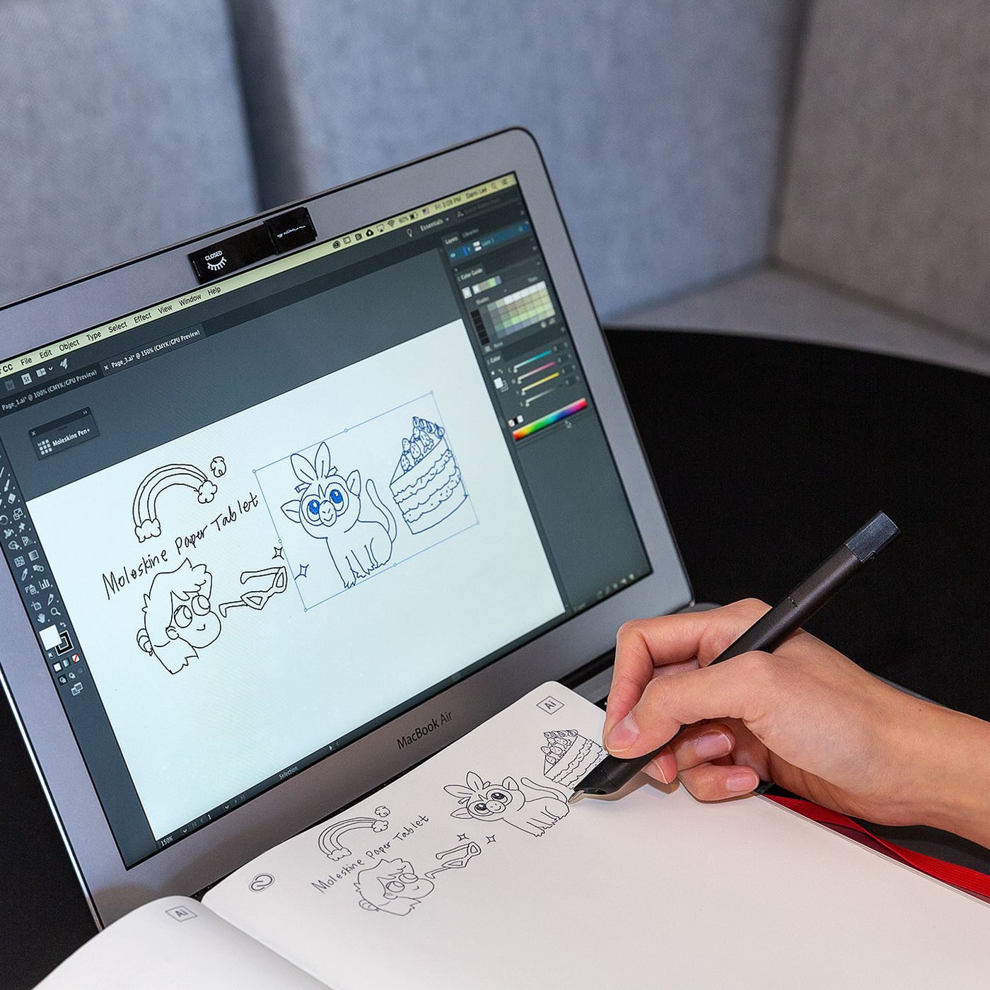 theverge.com - Dami Lee - Moleskine's new smart notebook vectorizes lines in Adobe Illustrator in real time