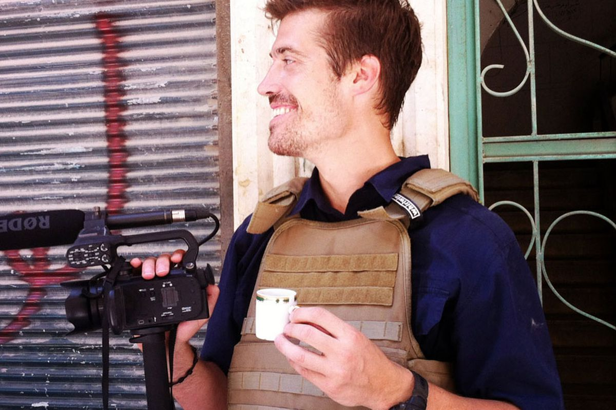American journalist James Foley in Syria