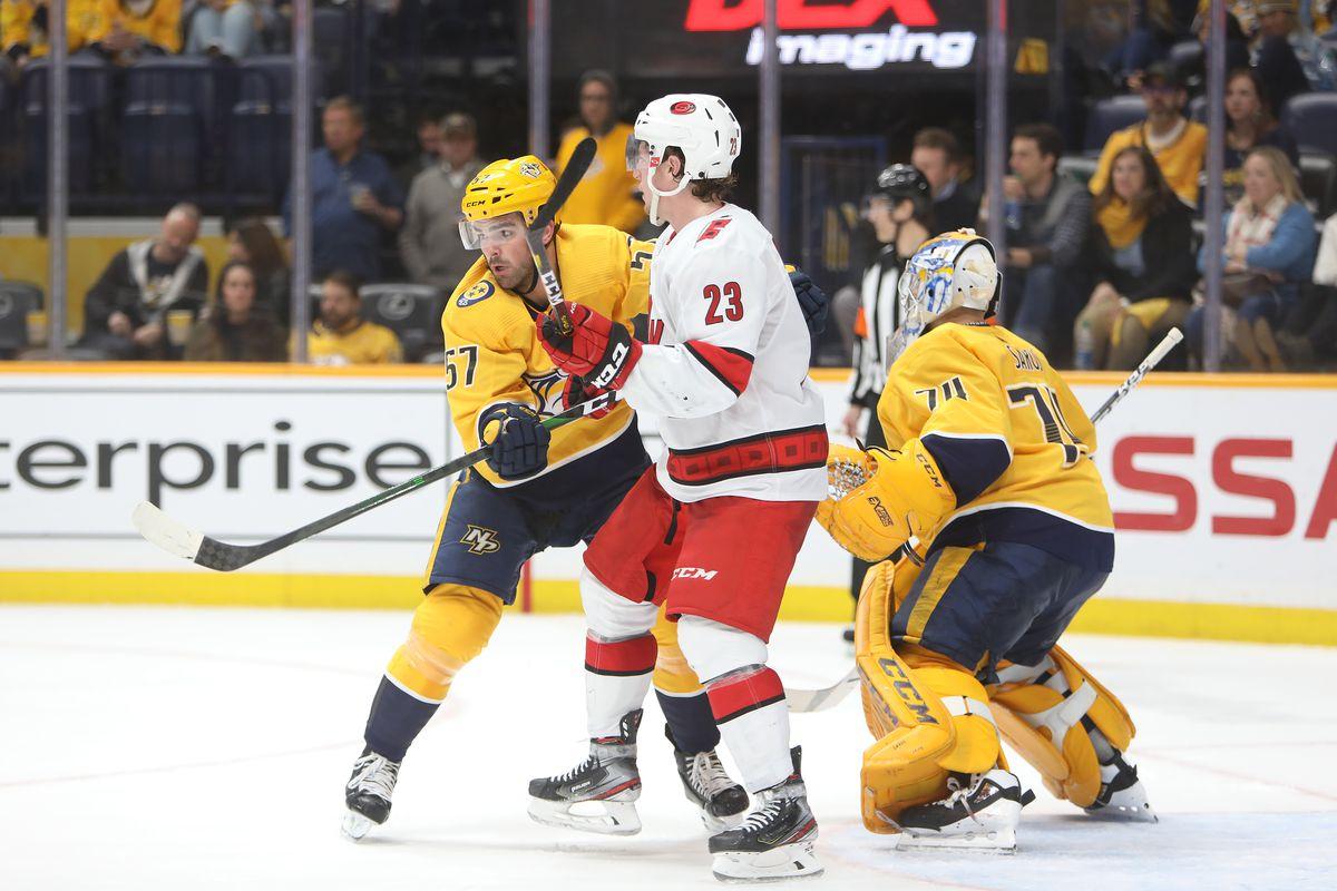 NHL: FEB 18 Hurricanes at Predators