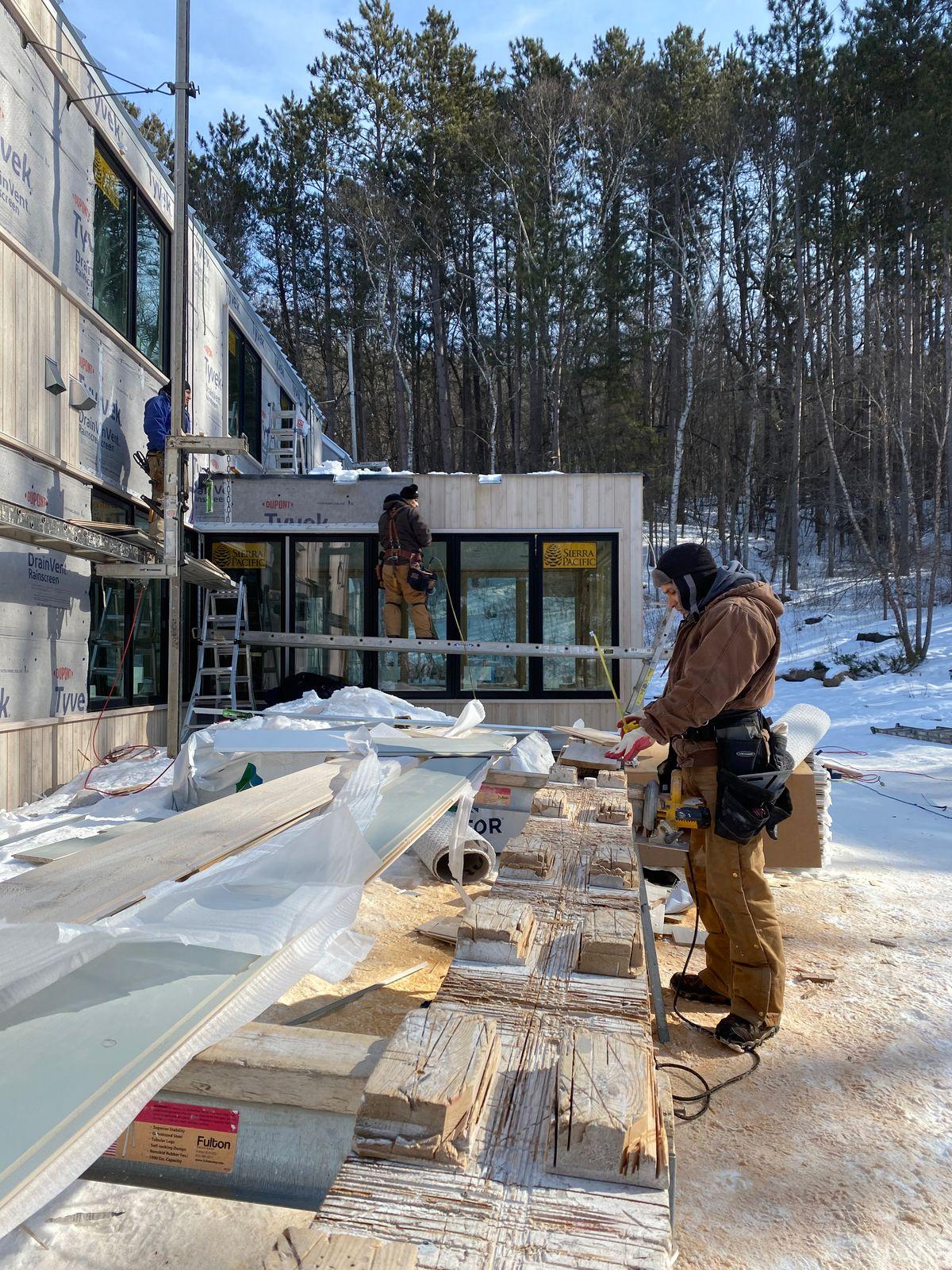 Modern Barnhouse, Idea House 2021, Minnesota, Progress