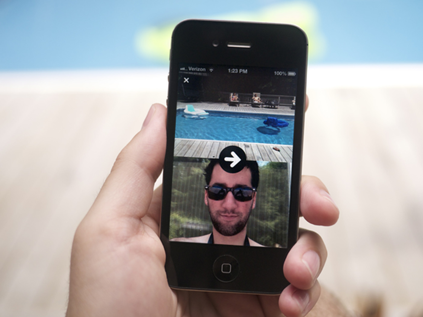 Frontback: an addictive camera app for capturing both sides