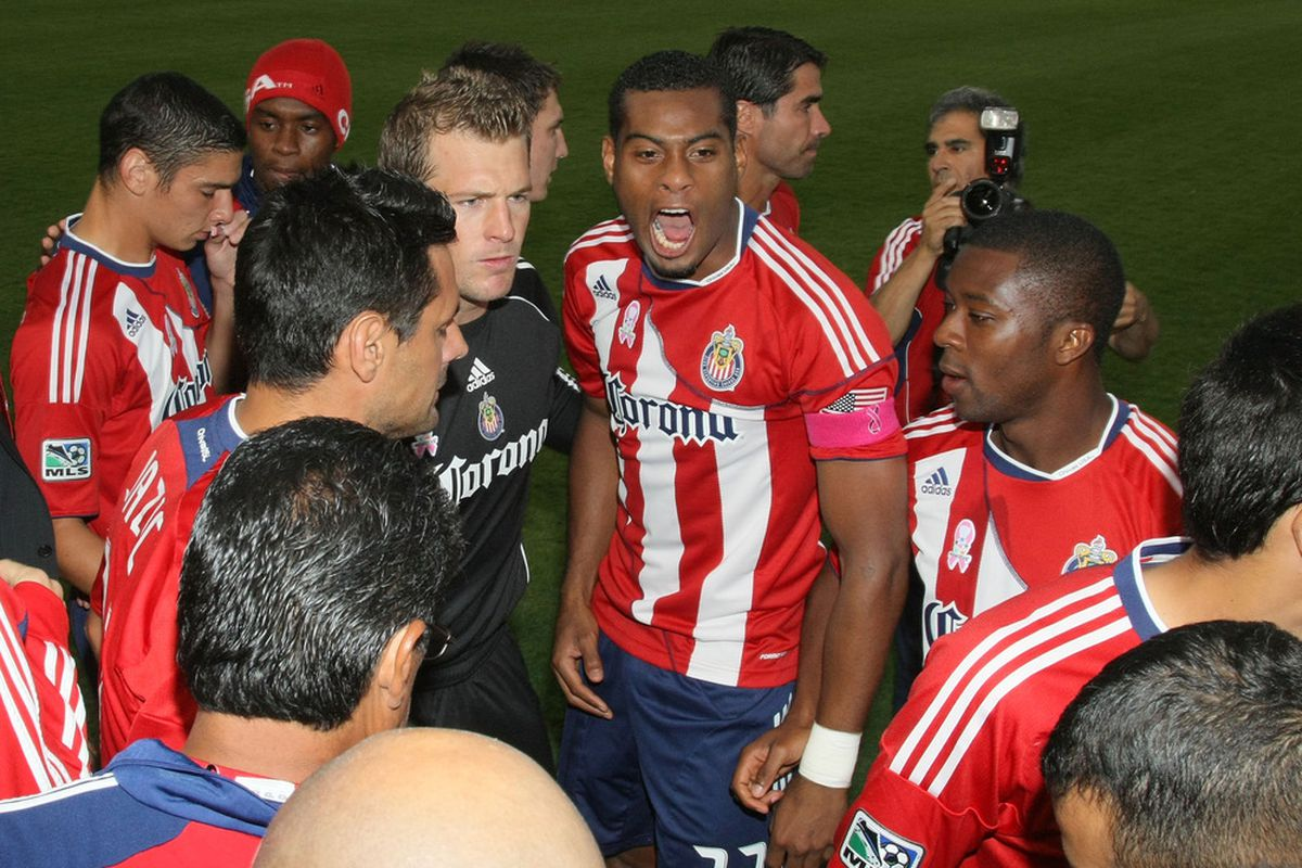 CARSON, CA - OCTOBER 16: Can the intensity lead to a result for Chivas? (Photo by Victor Decolongon/Getty Images)