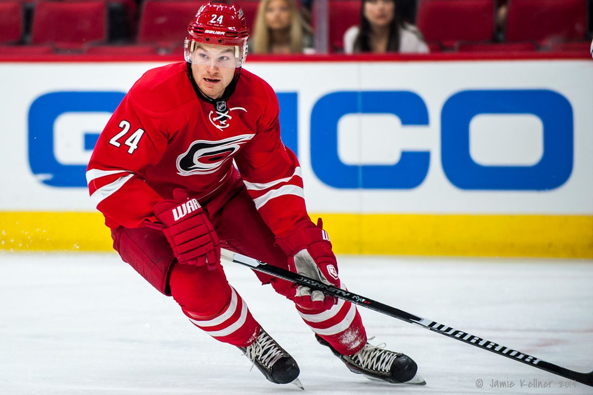 Brad Malone is one of four Carolina players who will be making their Hurricanes debut Friday.