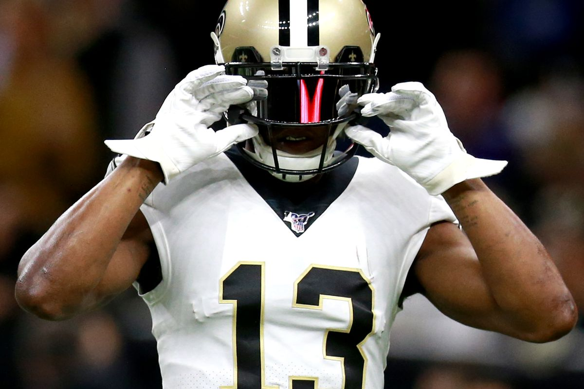 Michael Thomas #13 of the New Orleans Saints in action during the NFC Wild Card Playoff game against the Minnesota Vikings at Mercedes Benz Superdome on January 05, 2020 in New Orleans, Louisiana.