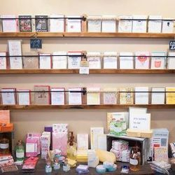 """<a href=""""http://www.rockpaperscissorsshop.com/"""">Rock Paper Scissors</a> [734- 531-6264] is an adorable gift shop that has an admirable goal: to help shoppers """"celebrate everything."""" The cheery boutique, which has a sister location in Tecumseh, stocks Kate"""