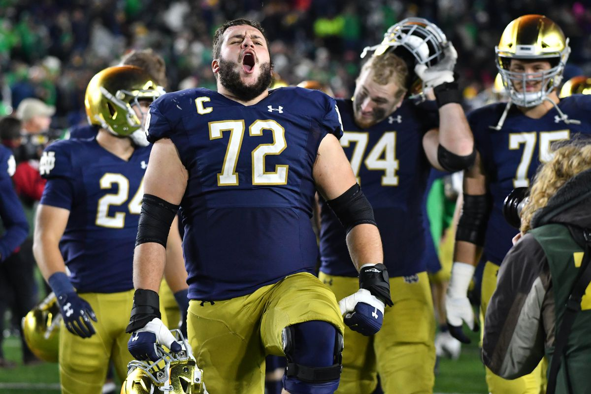 2020 Notre Dame Football Roster With Jersey Numbers One Foot Down