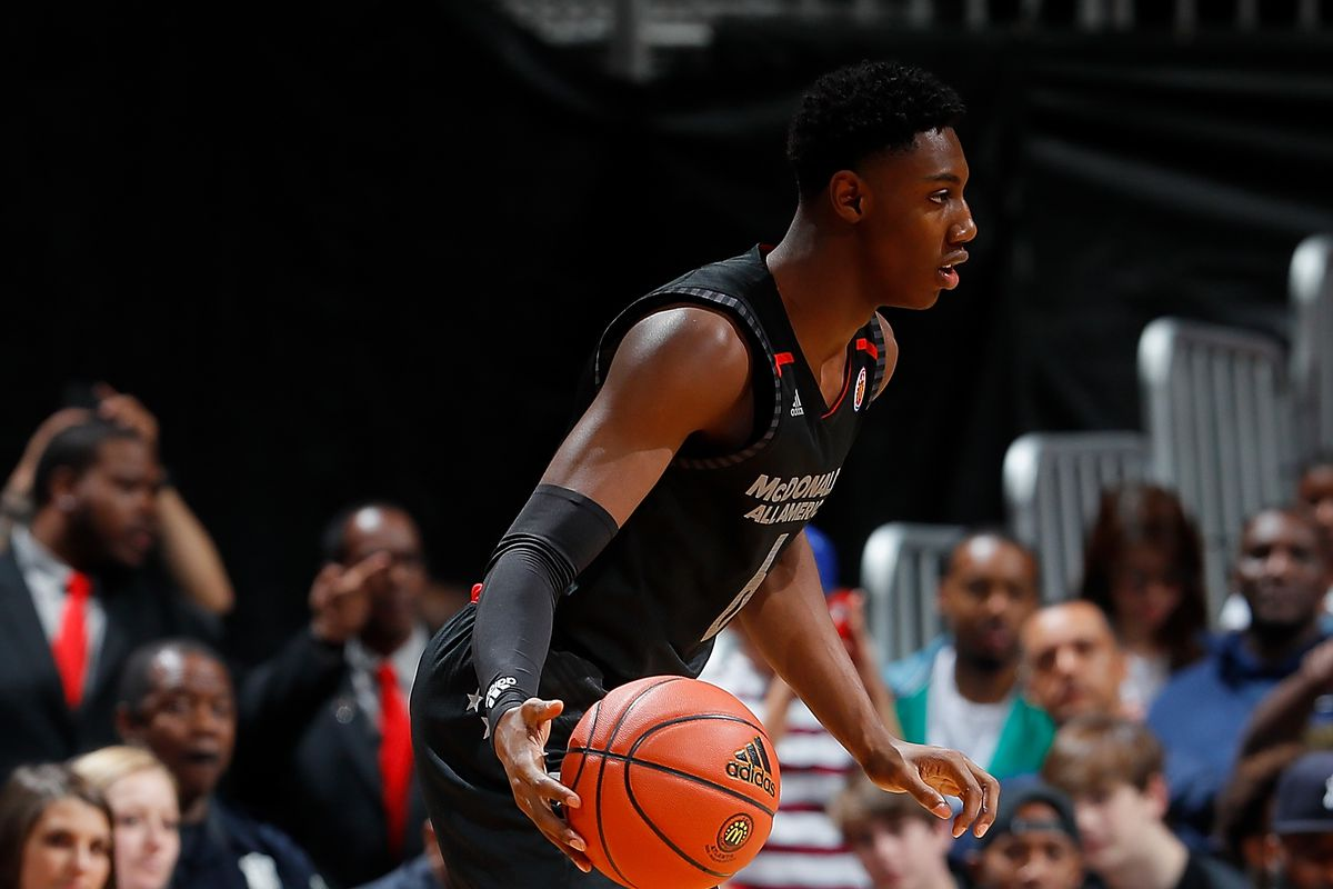 Atlanta Ga March  Rj Barrett  Of Montverde Academy In Action During The  Mcdonalds All American Game At Philips Arena On March