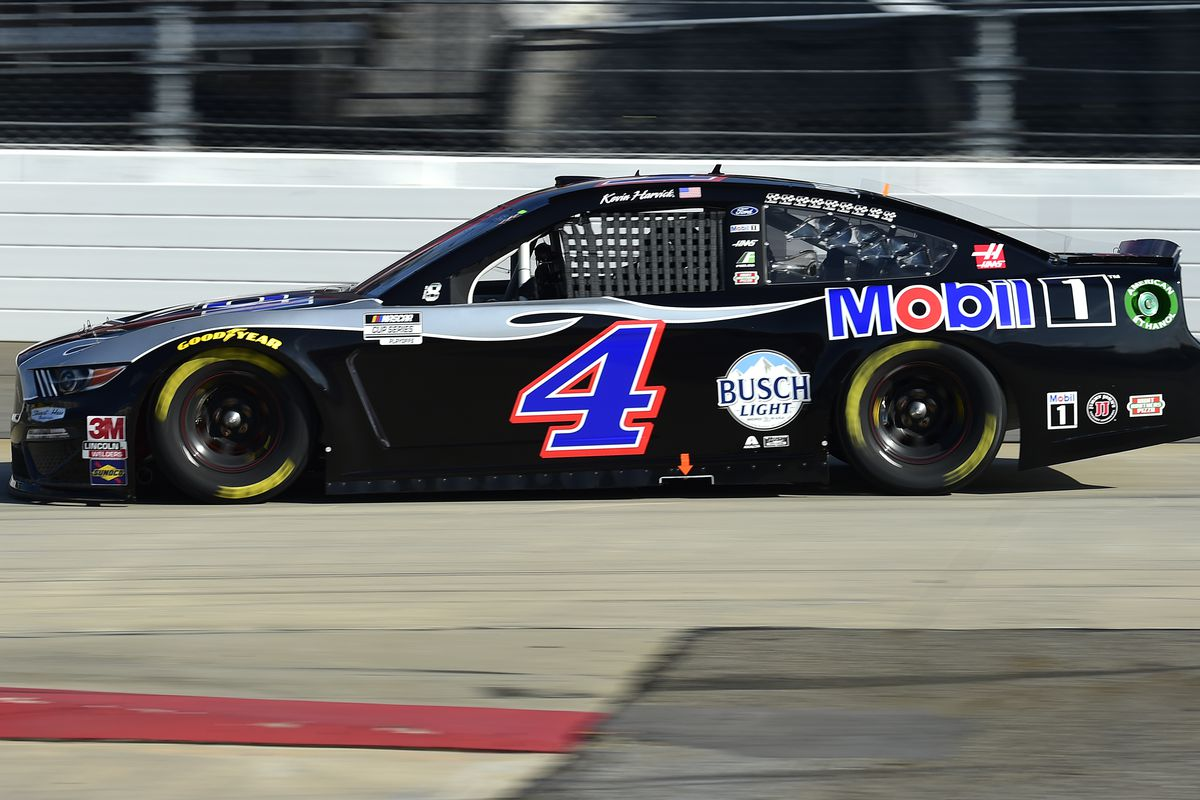 Kevin Harvick, driver of the #4 Mobil 1 Ford, drives during the NASCAR Cup Series Xfinity 500 at Martinsville Speedway on November 01, 2020 in Martinsville, Virginia.