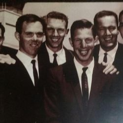 The Mormon Yankees in 1960 included David Burton (far left) and Bob Skousen (third from left).