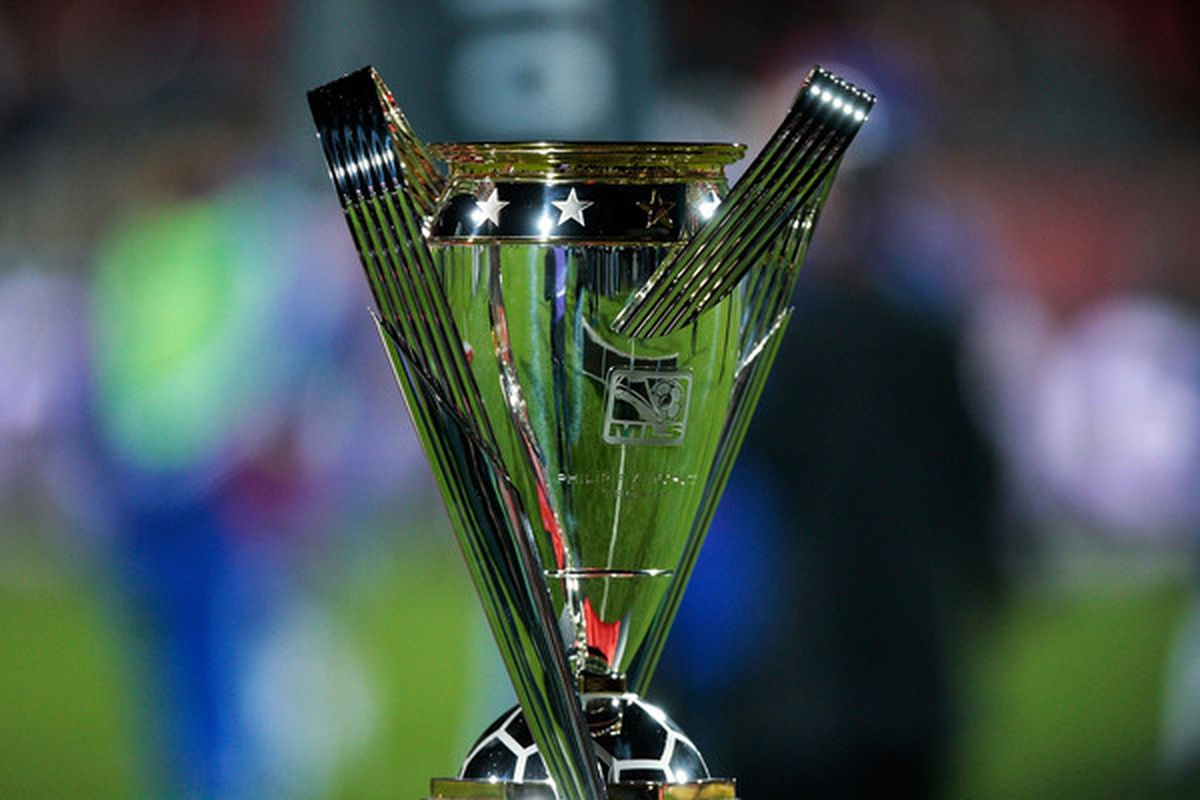 TORONTO ON - NOVEMBER 21:  The Philip F. Anschutz Trophy is seen after the Colorado Rapids defeated FC Dallas 2-1 in overtime of the 2010 MLS Cup match at BMO Field on November 21 2010 in Toronto Canada.  (Photo by Abelimages/Getty Images)