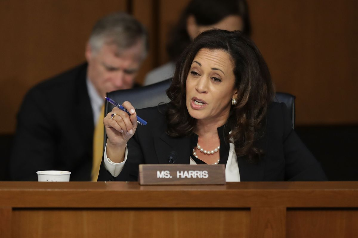 White Senators Can't Stop Interrupting Kamala Harris