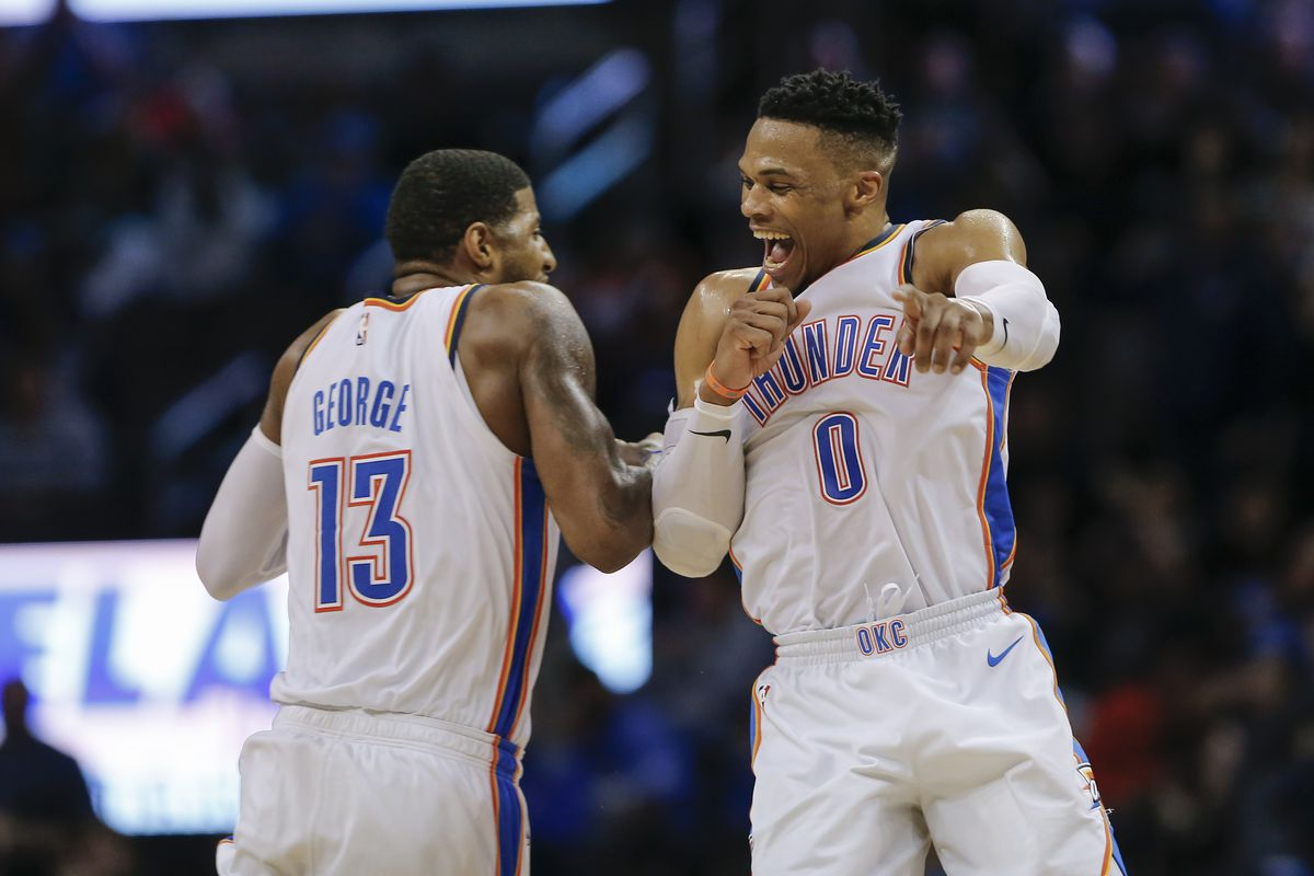 fcf42a0af965 Alonzo Adams-USA TODAY Sports. Russell Westbrook registered his 10th  straight ...