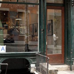 """<b>↑</b> A hit with both the style set and the surfer set, <b><a href=""""http://www.saturdaysnyc.com/"""">Saturdays Surf</a></b> (17 Perry Street) has a West Village location so you don't have to trek to Soho for a cup of their raved-about coffee. While you si"""