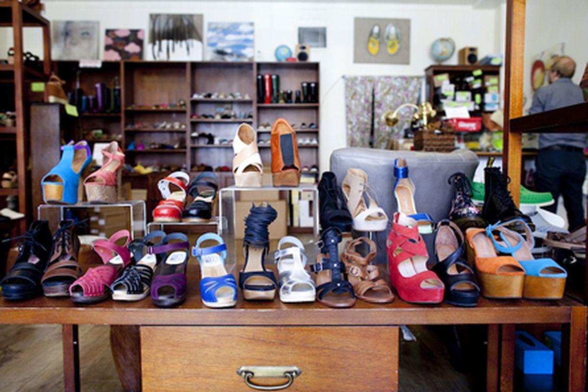 Shoe Market in Williamsburg. Image by Brian Harkin.