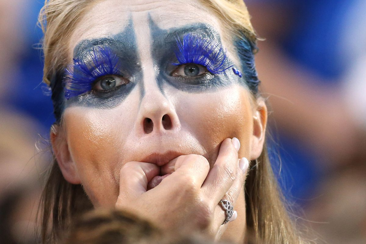This Blue Jays fan might not be rowdy. But if she is, she could screw up a mix.