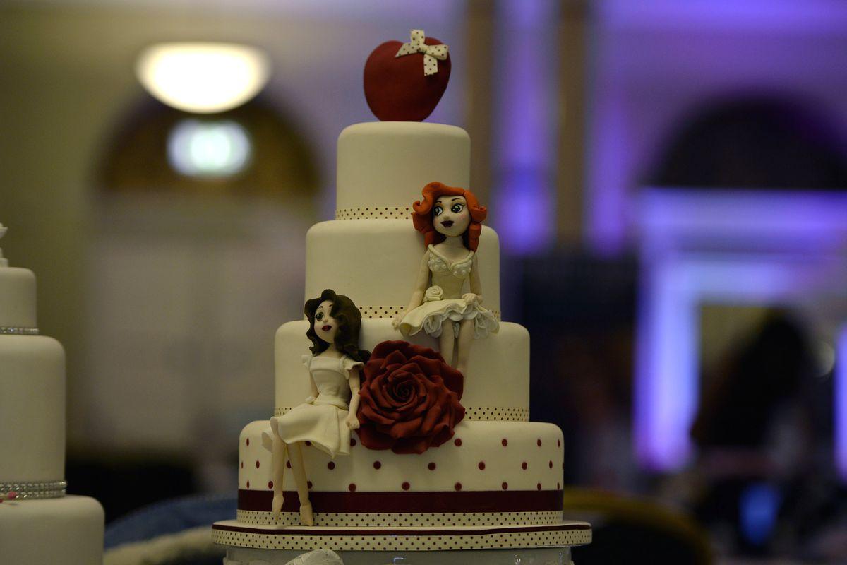 A wedding cake for a same-sex couple.