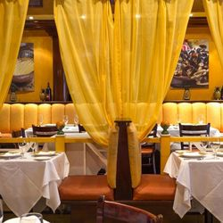 Ortanique's bright, cheery Caribbean-inspired dining room of yellows and oranges is unlike any other in Miami, even offering a more secluded cabana section.