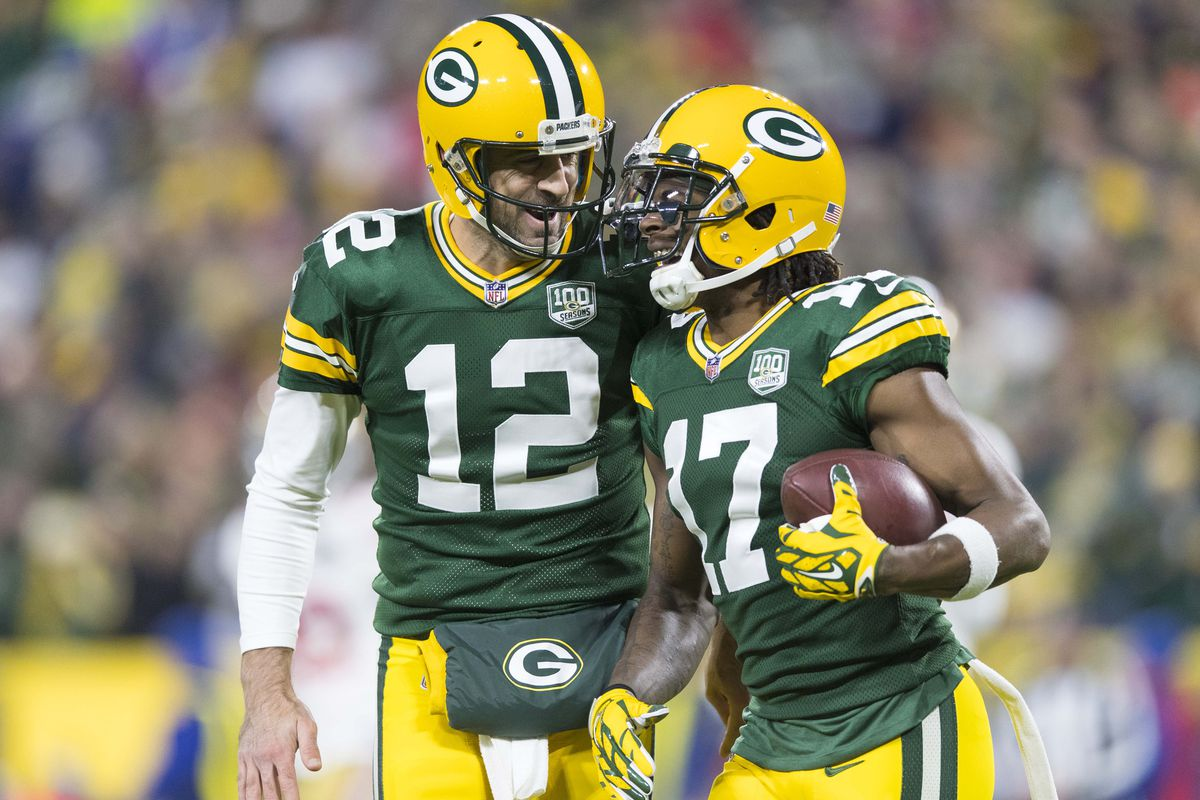 pretty nice de371 196f1 Aaron Rodgers & Davante Adams named to 2019 Pro Bowl, 3 ...