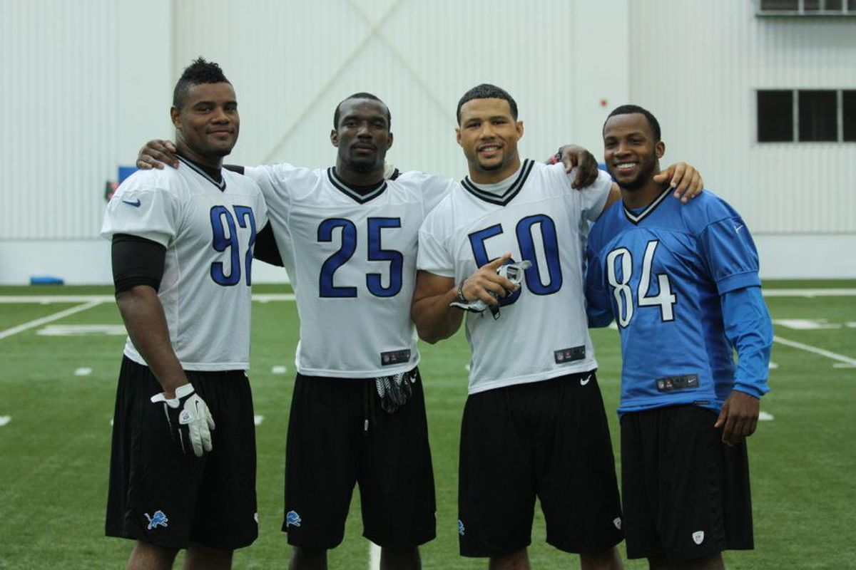 From left to right - Ronnell Lewis, Sam Proctor, Travis Lewis and Ryan Broyles