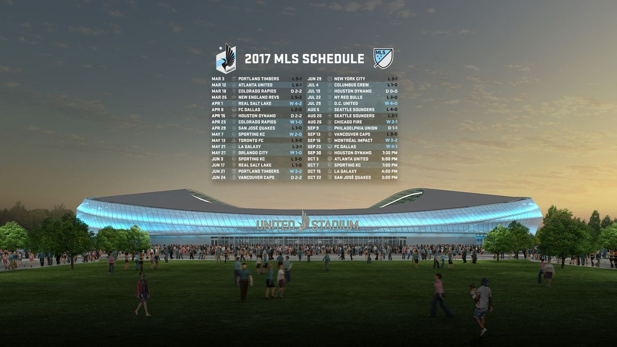 2017 MNUFC Schedule + Results Wallpaper