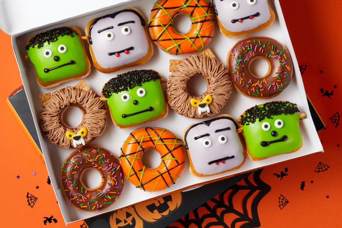 Krispy Kreme Christmas Doughnuts 2021 Krispy Kreme Releases New Halloween Theme Doughnuts Deseret News
