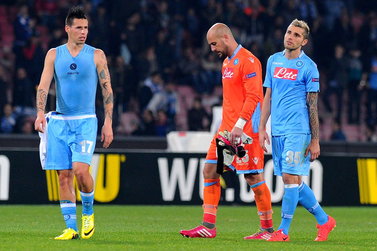Marek, Pepe and Valon all just realized Napoli still need to win a match.