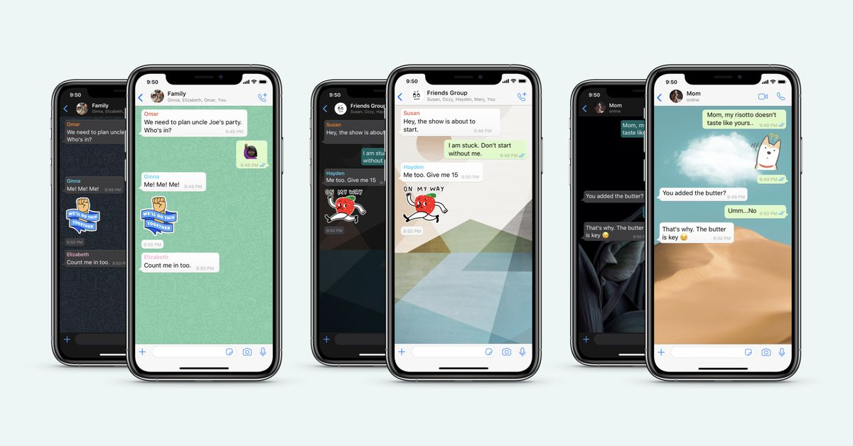 WhatsApp's improved wallpapers can be assigned per chat with custom dark mode settings